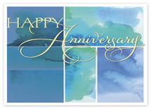 Watercolor Wish Anniversary Cards